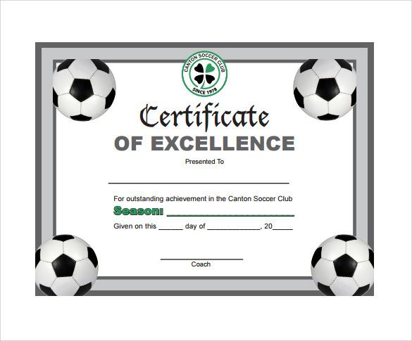 Free 17+ Soccer Certificate Templates In Psd   Ai   Indesign Regarding Soccer Achievement Certificate Template
