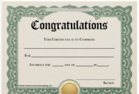 Free 19+ Sample Congratulations Certificate Templates In Pdf pertaining to Fresh Congratulations Certificate Template