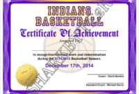 Free 20+ Sample Basketball Certificate Templates In Pdf | Ms in Basketball Tournament Certificate Template