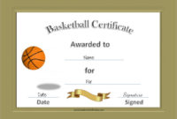 Free 20+ Sample Basketball Certificate Templates In Pdf | Ms in Best Basketball Tournament Certificate Template Free