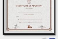 Free 23+ Sample Adoption Certificates In Ai | Indesign | Ms for Child Adoption Certificate Template Editable