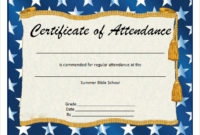Free 23+ Sample Attendance Certificate Templates In Ai with regard to Fresh Perfect Attendance Certificate Template Editable