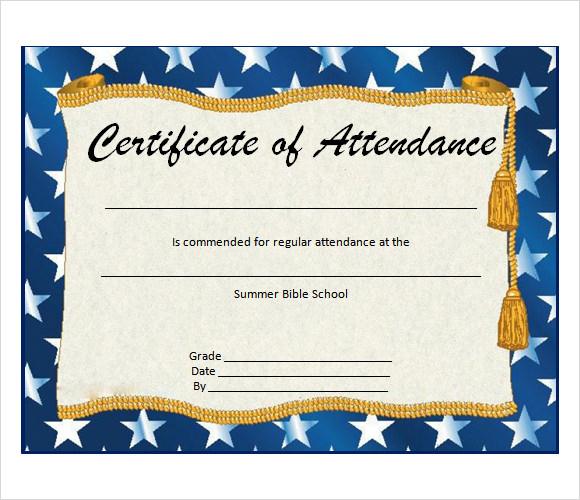 Free 23+ Sample Attendance Certificate Templates In Ai Within Fresh Perfect Attendance Certificate Template Free
