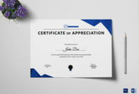 Free 34+ Sample Certificate Of Appreciation Templates In Pdf regarding Unique Physical Education Certificate 8 Template Designs
