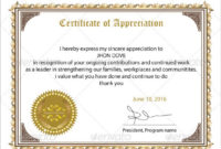 Free 34+ Sample Certificate Of Appreciation Templates In Pdf throughout Best Free Employee Appreciation Certificate Template