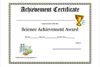 Free 52+ Printable Award Certificate Templates In Ai with Unique Science Achievement Certificate Template Ideas