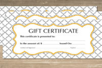 Free 60+ Sample Gift Certificate Templates In Pdf | Psd | Ms with Gift Certificate Template In Word 10 Designs