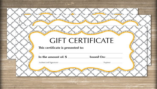 Free 60+ Sample Gift Certificate Templates In Pdf | Psd | Ms With Unique Editable Fitness Gift Certificate Templates