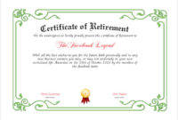 Free 7+ Sample Retirement Certificate Templates In Pdf | Ms for Unique Free Retirement Certificate Templates For Word