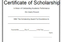 Free 7+ Scholarship Certificate Templates In Eps | Ai throughout Scholarship Certificate Template