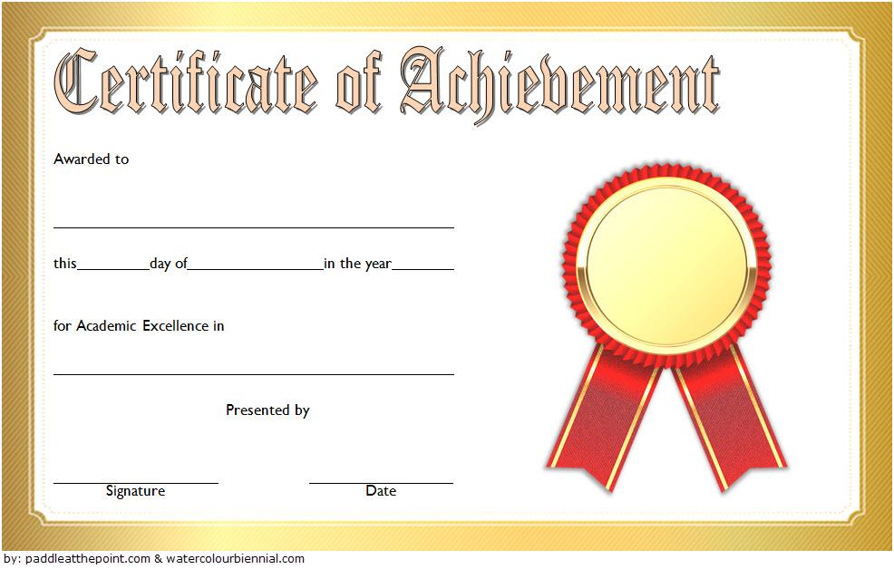 Free Academic Achievement Certificate Template 4 | Two Intended For Academic Achievement Certificate Templates