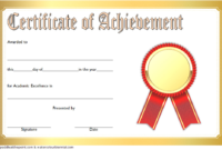 Free Academic Achievement Certificate Template 4 | Two regarding Best Academic Achievement Certificate Template