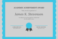 Free Academic Certificates Templates To Customize | Canva intended for Academic Achievement Certificate Template