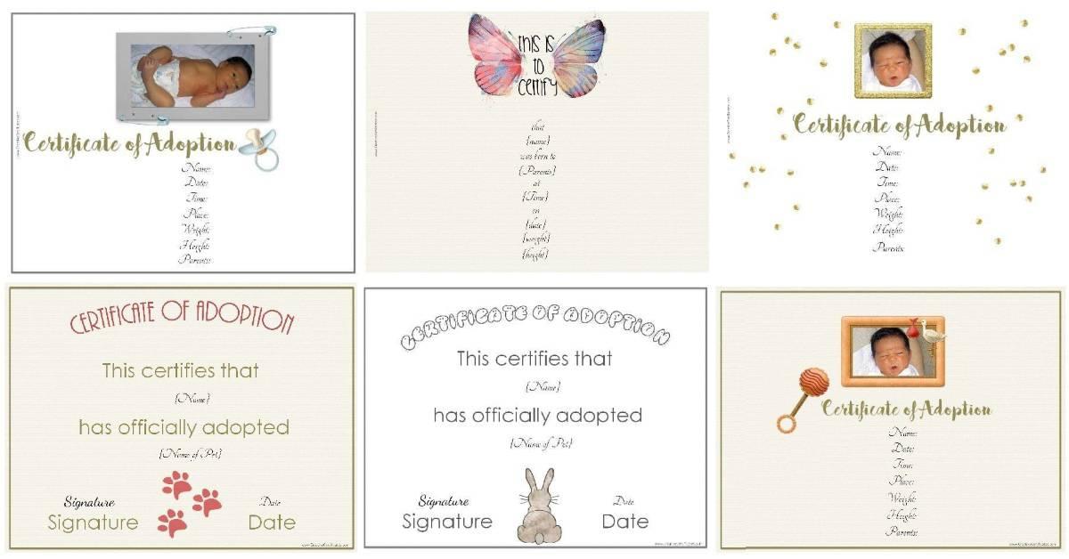 Free Adoption Certificate Template - Customize Online Inside Dog Adoption Certificate Template