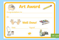 Free! – Art Award Certificate Template | Primary Classes pertaining to Best Art Award Certificate Template