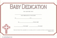 Free Baby Dedication Certificate Word Document [14+ Ideas] in Unique Free Printable Baby Dedication Certificate Templates