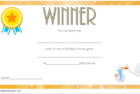 Free Baby Shower Game Winner Certificate Template 2 | Free pertaining to Baby Shower Winner Certificates