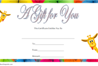 Free Baby Shower Voucher Gift Template In 2020 | Gift in Baby Shower Gift Certificate Template