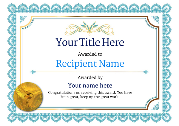 Free Ballet Certificate Templates - Add Printable Badges Pertaining To Unique Dance Award Certificate Templates