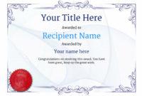 Free Ballet Certificate Templates – Add Printable Badges throughout Unique Ballet Certificate Template