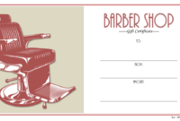Free Barber Shop Gift Certificate Template 1 | Gift with regard to Fresh Barber Shop Certificate Free Printable 2020 Designs