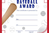 Free Baseball Certificates – Printable Baseball Certificate with regard to Best Baseball Award Certificate Template