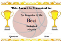 Free Basketball Certificate Template | Basketball within Fresh Download 10 Basketball Mvp Certificate Editable Templates