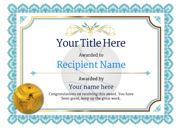 Free Basketball Certificate Templates - Add Printable Badges Pertaining To Best Basketball Certificate Template