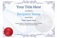 Free Basketball Certificate Templates – Add Printable Badges throughout Basketball Certificate Templates