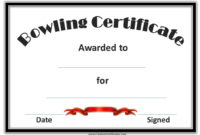 Free Bowling Certificate Template intended for Bowling Certificate Template