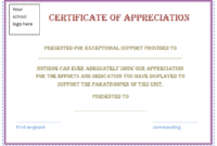 Free Certificate Of Appreciation Template (Purple Border for Employee Appreciation Certificate Template