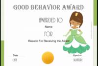 Free Certificate Of Good Behavior | Customize & Print with Best Good Behaviour Certificate Template 10 Kids Awards
