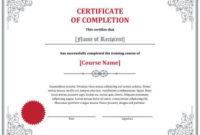 Free Certificate Templatehloom | Free Certificate for Finisher Certificate Template 7 Completion Ideas