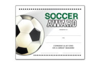 Free Certificate Templates For Youth Athletic Awards regarding Soccer Award Certificate Template