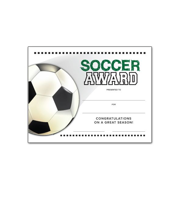 Free Certificate Templates For Youth Athletic Awards Throughout Unique Soccer Achievement Certificate Template