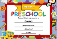 Free Certificate Templates | Templates Certificates intended for Fresh Certificate For Pre K Graduation Template