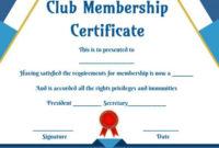 Free Club Membership- Certificate Templates | Certificate with Best Membership Certificate Template Free 20 New Designs