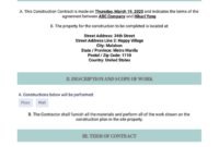 Free Construction Contract Template – Pdf Templates | Jotform intended for Best Construction Certificate Template 10 Docs Free