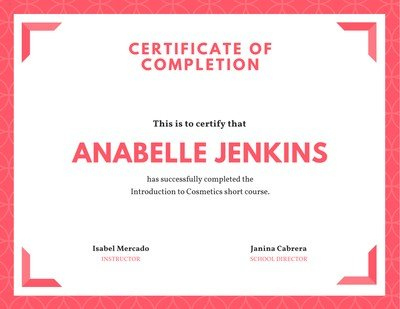 Free Course Certificates Templates To Customize   Canva In Best Training Course Certificate Templates