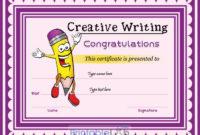 Free Creative Writing Award Certificate Format In Vivid pertaining to Handwriting Award Certificate Printable