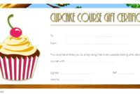 Free Cupcake Gift Certificate Template 1 | Gift Certificate with Best Cupcake Certificate Template Free 7 Sweet Designs