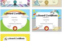 Free Custom Certificates For Kids | Customize Online & Print pertaining to Good Behaviour Certificate Editable Templates