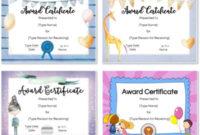 Free Custom Certificates For Kids | Customize Online & Print pertaining to Unique Good Behaviour Certificate Editable Templates