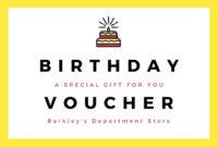 Free, Custom Printable Birthday Gift Certificate Templates for Birthday Gift Certificate