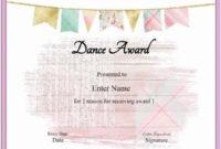 Free Dance Certificate Template – Customizable And Printable in Ballet Certificate Template