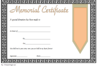 Free Donation In Memory Of Certificate Template 3 | Two pertaining to Donation Certificate Template Free 14 Awards