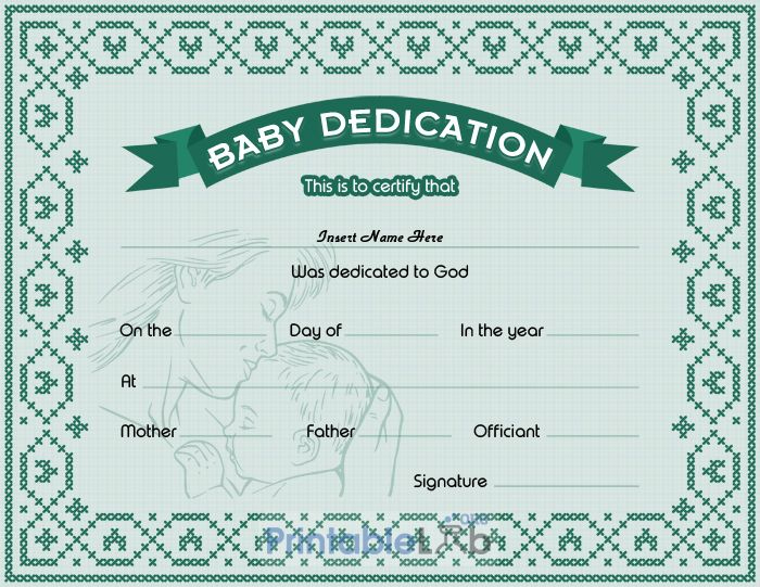 Free Download Baby Dedication Certificate Doc Template In For Unique Free Fillable Baby Dedication Certificate Download