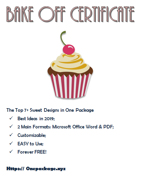Free Download The Top 7+ Extraordinary Templates Of with Certificate For Baking 7 Extraordinary Concepts