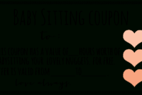 Free Downloadable Babysitting Coupon! :) Might Start Giving for Unique Babysitting Gift Certificate Template