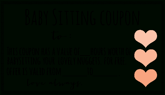 Free Downloadable Babysitting Coupon! :) Might Start Giving pertaining to Free Printable Babysitting Gift Certificate